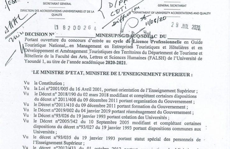 Licence Pro Département Tourisme et Hôtellerie